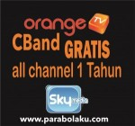 Promo Orange TV CBand Gratis All Channel 1 Tahun